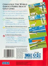 Pebble Beach Golf Links - Box - Back