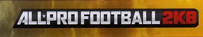 All-Pro Football 2K8 - Banner