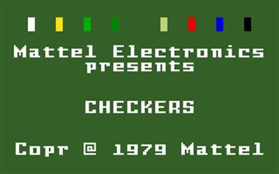 Checkers - Screenshot - Game Title