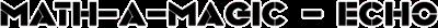 Mathematician / Echo - Clear Logo
