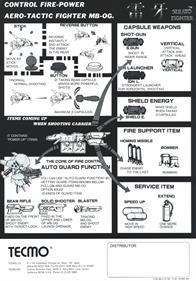 Raiga: Strato Fighter - Advertisement Flyer - Back