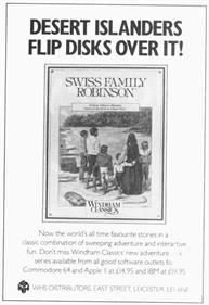 Swiss Family Robinson - Advertisement Flyer - Front
