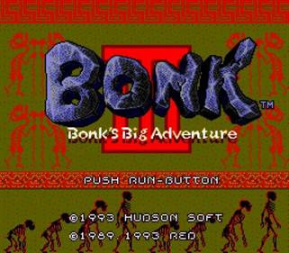 Bonk 3: Bonk's Big Adventure - Screenshot - Game Title