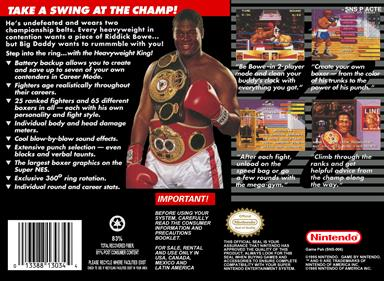 Riddick Bowe Boxing - Box - Back