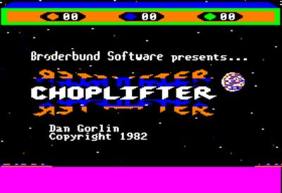 Choplifter! - Screenshot - Game Title