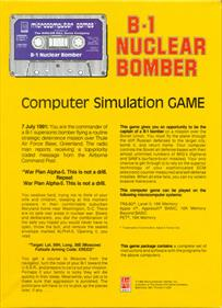 B-1 Nuclear Bomber - Box - Back