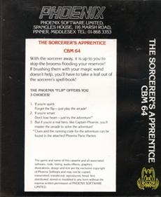 The Sorcerer's Apprentice - Box - Back
