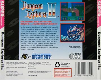 Dungeon Explorer II - Box - Back