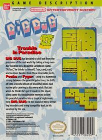 Dig Dug II: Trouble in Paradise - Box - Back