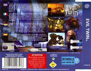Evil Twin: Cyprien's Chronicles - Box - Back