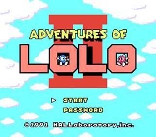Adventures of Lolo 3 - Screenshot - Game Title