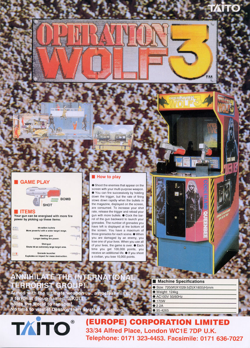 Operation Wolf 3 Details Launchbox Games Database